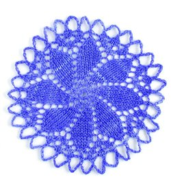 circular lace knitted swatch