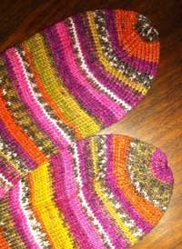 Knitting socks for the humble toes.