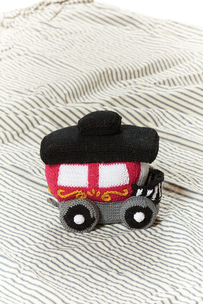 Circus Train Caboose designed by Megan Kreiner of MK Crochet / MK Knits from Love of Knitting Winter 2016.