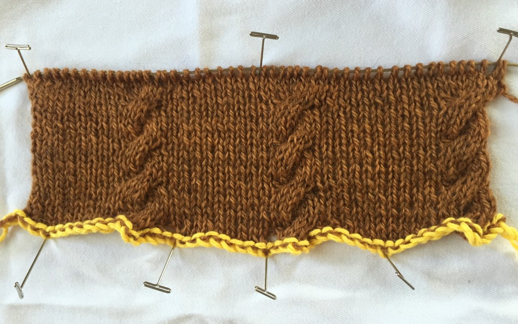 Sl Stitch In Knitting : Grafting a Drop Stitch Knitting Pattern - Interweave