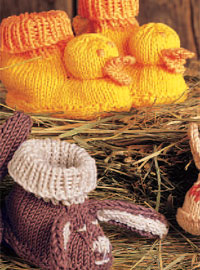 Create these knitted baby booties in this free guide on baby knitting patterns.
