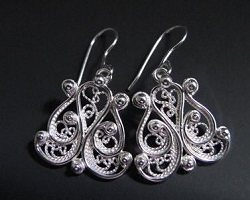 Annabel Alleyne shared her Argentium filigree earrings, sterling silver alloy
