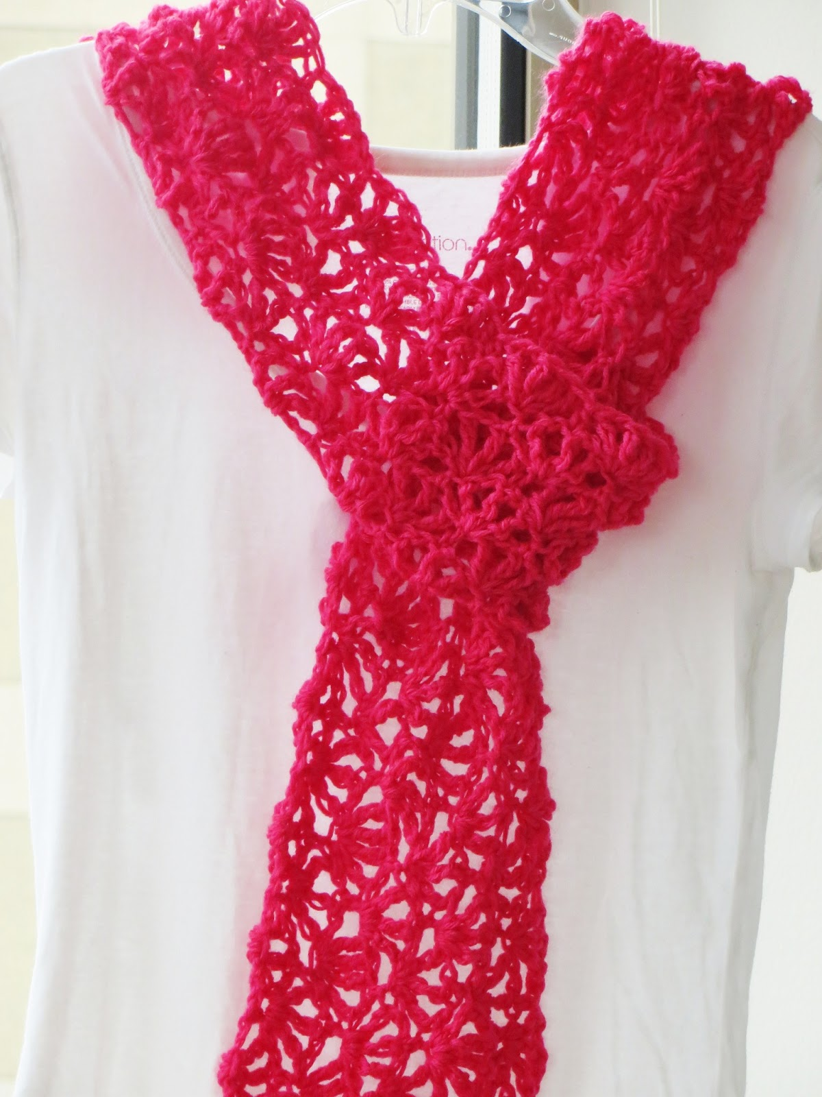 Alana Lacy Scarf For Summer Free Crochet Pattern For