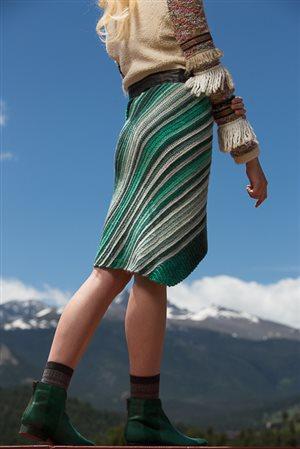 Aslant Skirt back