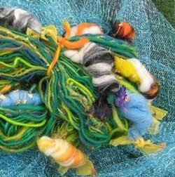 Koi Pond art yarn