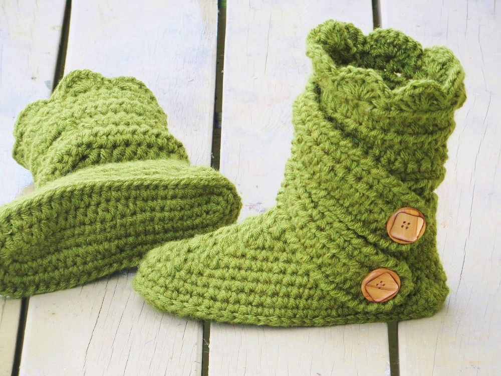 Womans Boots Crochet Pattern Fits Us Sizes 5 To 12 Interweave