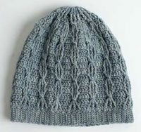 Cabled Crochet Hat
