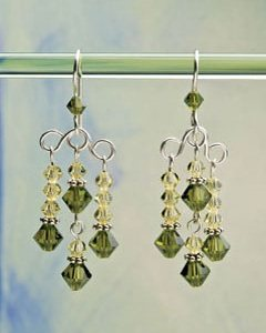Its sparkle jewelry season make earrings for the holiday party peridot chandelier earrings by jodi bombardier these elegant crystals are attached to loose wire loops and sparkle at every angle aloadofball Choice Image