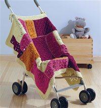 Baby Blueprint Crochet - Kyla Mod Stroller Crochet Baby Blanket