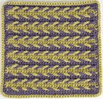 Learn how to do this woven arrowheads crochet afghan pattern.