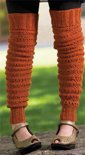 Crochet Leg Warmers Peggy's Leg Warmers by Mary Beth Temple