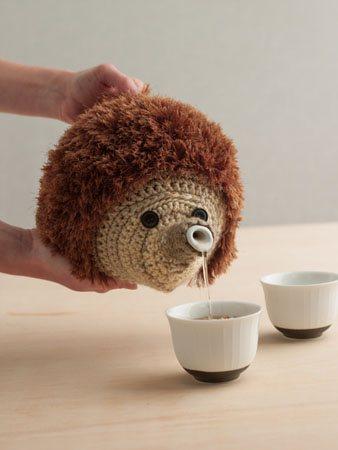 Hedgehog Teapot Cozy Front