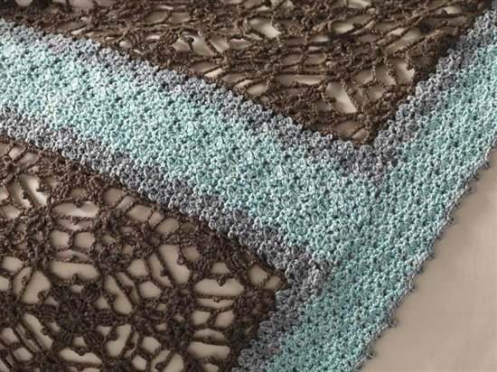 Unexpected Afghans: Lacy Crochet Afghan