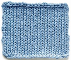 Stockinette stitch (photo from Knit Fix by Lisa Kartus)