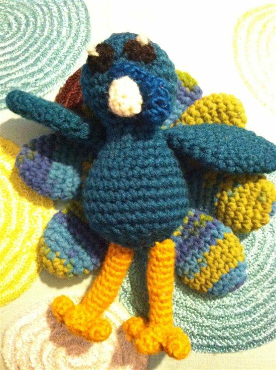 Peacock Crochet Amigurumi