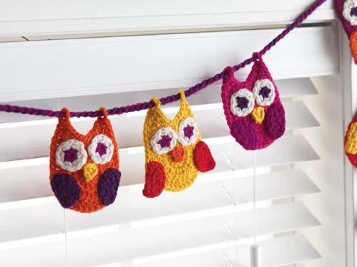 Crochet Owl Garland