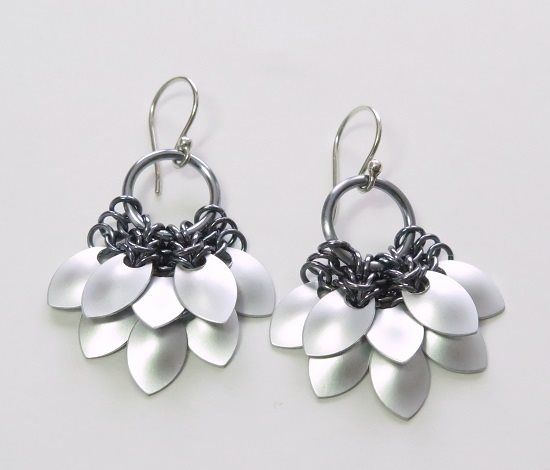 free chain maille tiny scale maille earrings project tutorial