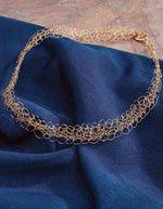 Crochet Jewelry Free wire necklace pattern.
