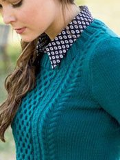 Telluride cable knitting pattern