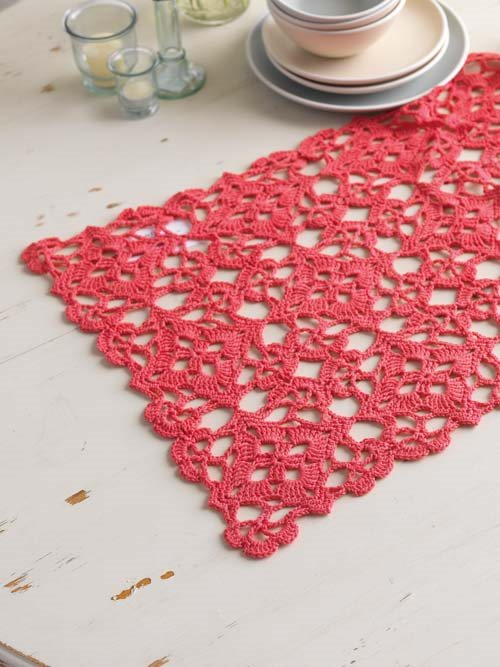 Lace Crochet Motif Table Runner