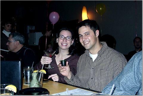 Celebrating over sushi