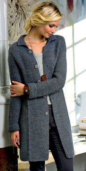 Knitting Pattern For Long Sweater Coat : Garter Stitch: Its New Again - Interweave