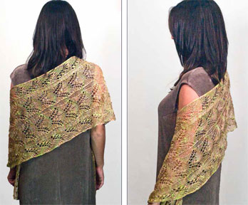 Knitting Daily Tv Patterns : Maidenhair Lace Wrap, As Seen on Knitting Daily TV Episode ...