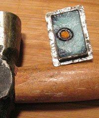 ball-peen hammer texture on metal