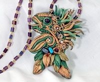 Polymer clay art jewelry making tips and ideas from the pros maria gave me a polymer clay fish pinpendant like this one nearly a decade ago he has held a place of prominence in my craft room since then reminding me aloadofball Image collections