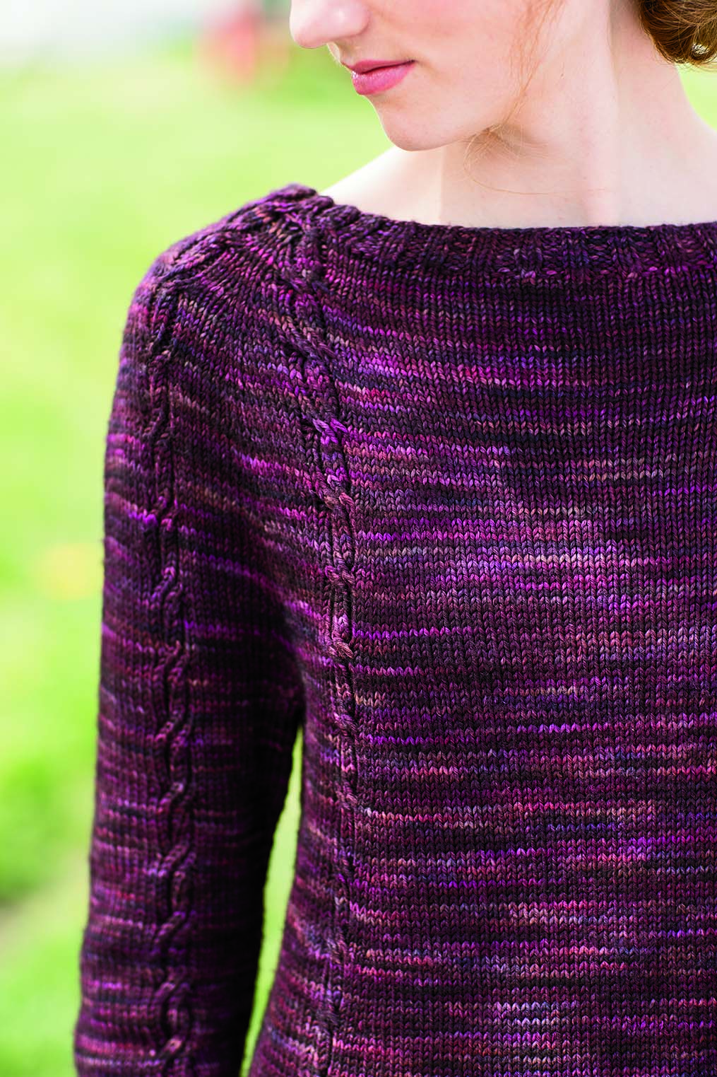 Free Top Down Knitting Patterns : Barnard Raglan - Interweave