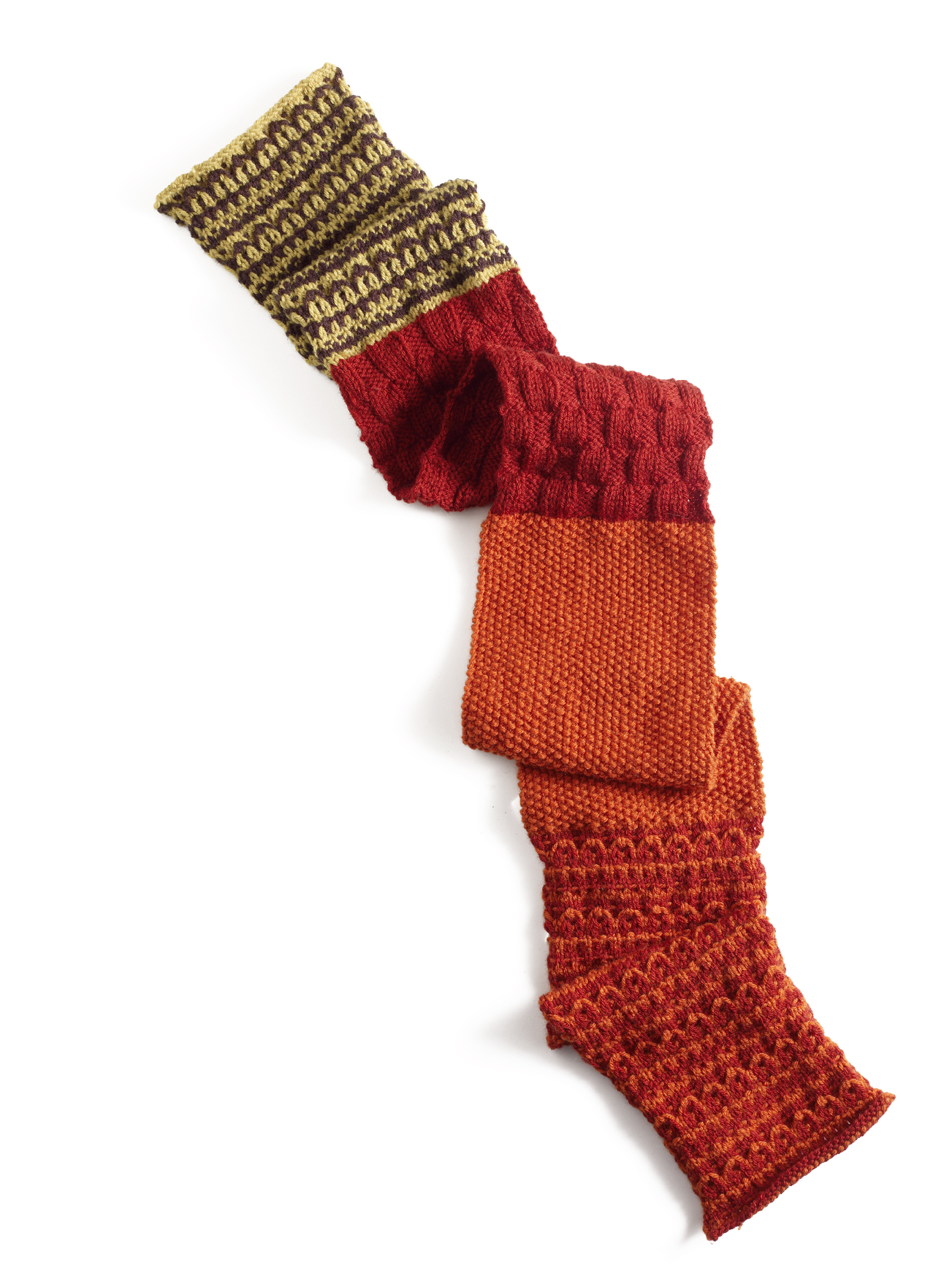 Join the Knitting Daily TV Knit-along for the Fallen Leaves Scarf ...