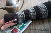 Crocheted Fingerless Mitts