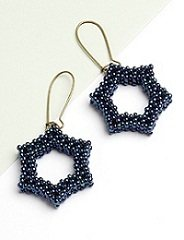 Simple Star Earrings by Sara Zsadon