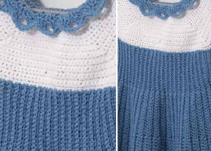 The Summer Blues Baby Dress is a fun baby crochet pattern that can be found in the free 9 Free Crochet Baby Patterns eBook.