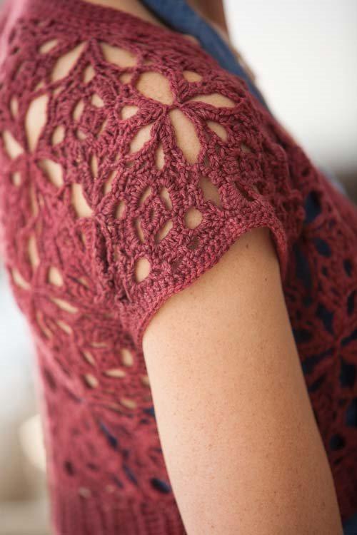 Blueprint Crochet Sweaters: Crochet Motif Shrug