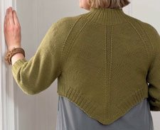 Learn how to knit the Audubon Shrug by Lisa Shroyer.