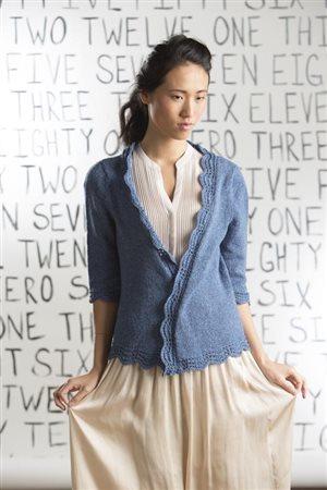 Cassie Castillo Ripple Edge Cardigan knit.purl Spring/Summer 2015