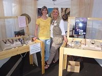 Lexi's juried art show booth display