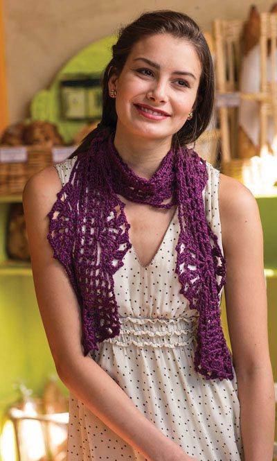 Colorful Crochet Lace: Fan Crochet Scarf