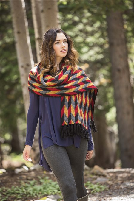 muir wrap knitted shawl pattern