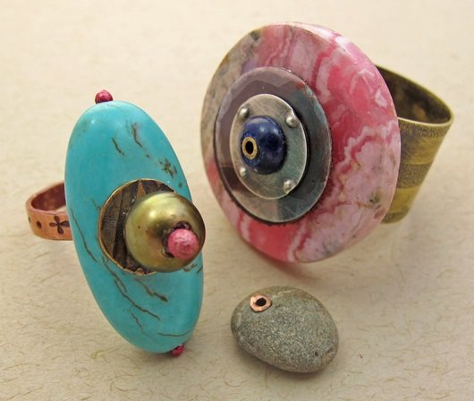 make big bold fashionable gem rings by Kate Richbourg