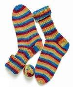 Fun striped socks from Getting Started Knitting Socks by Ann Budd