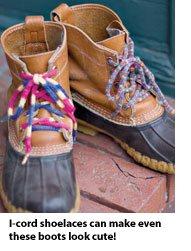 I-cord shoelaces