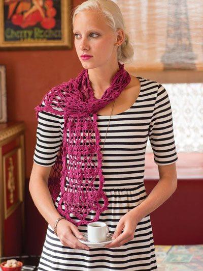 Colorful Crochet Lace: Lace Crochet Scarf