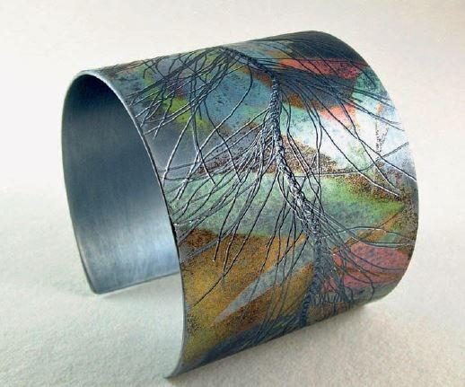 Tendril cuff by Joanne Cox