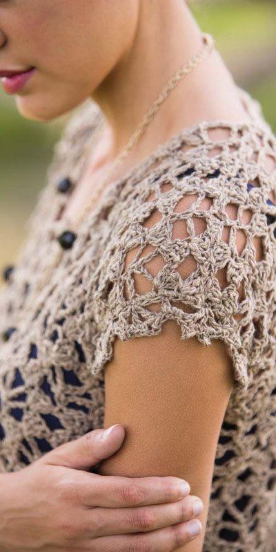 Colorful Crochet Lace: Lacey Crochet T-Shirt