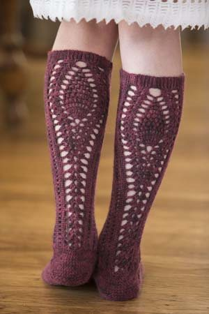 Lace Crochet Socks