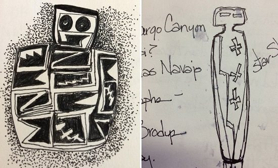 Lexi's petroglyph sketches