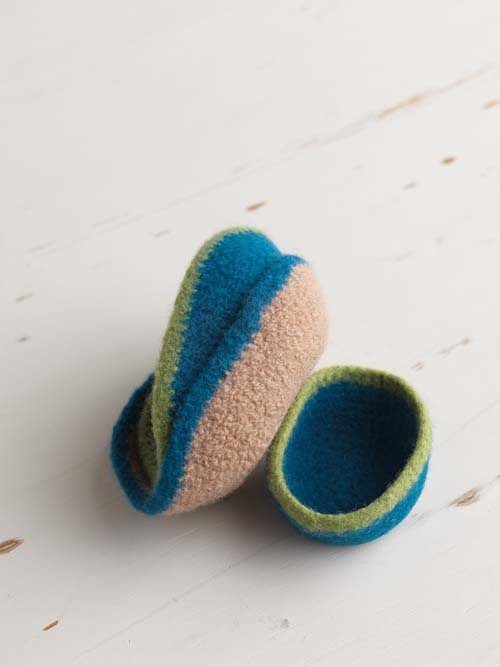 Felted Crocheted Bowls