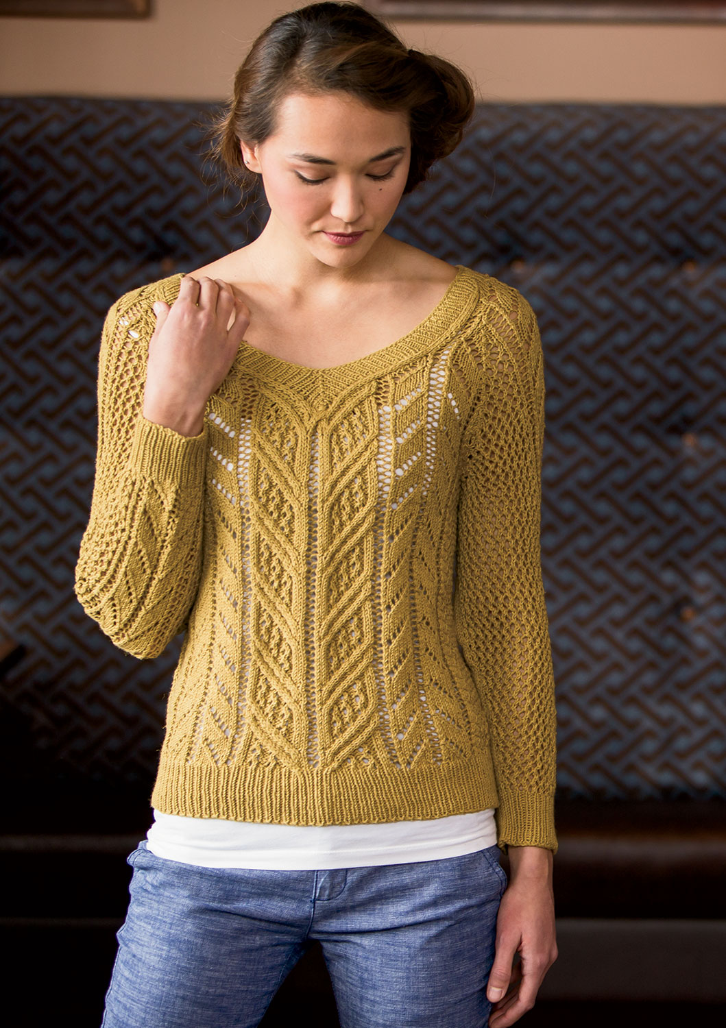 Knitting Summer Sweater : Optical illusions and summer knitting interweave